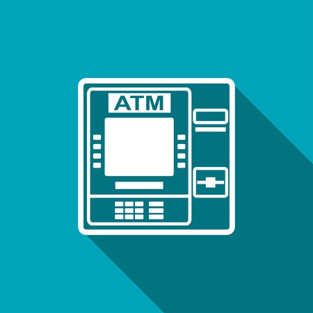 icon of atm 向量圖像