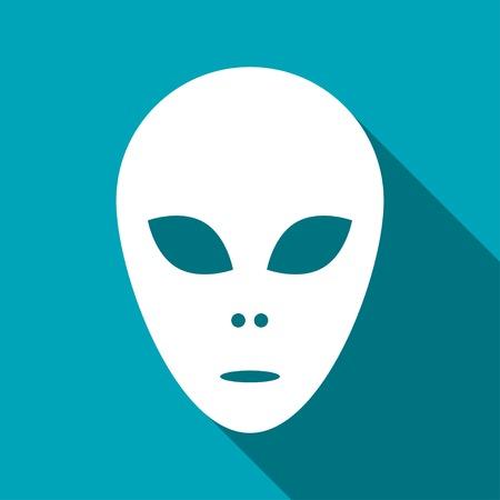 original circular abstract: alien icon