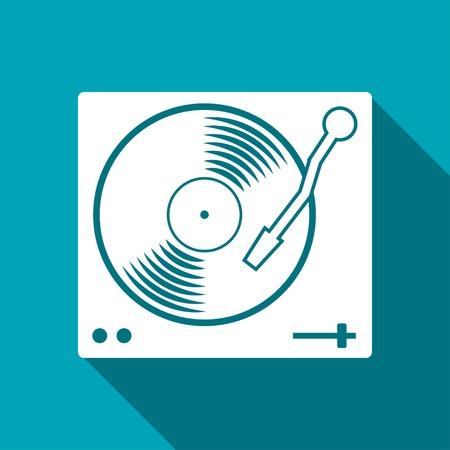 vinyl disk player: vinyl player icon Illustration