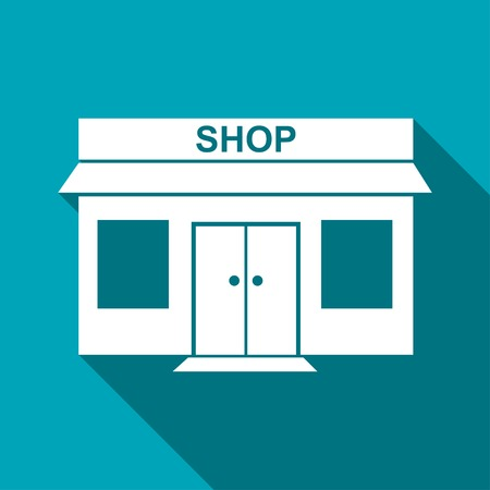 food store: shop icon Illustration