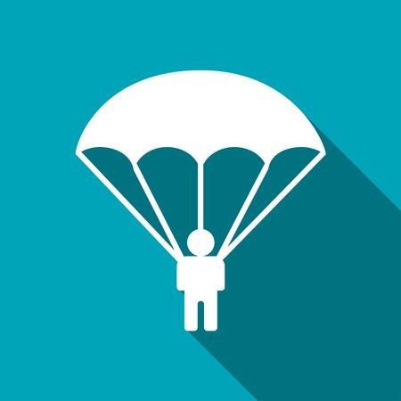 fallschirm: Fallschirmspringer-Symbol