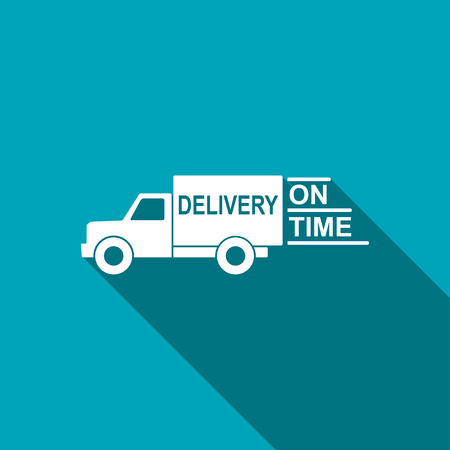 hurry up: delivery truck icon Illustration