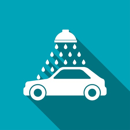 service car: icon of car wash Illustration