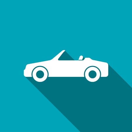 cabriolet: icon of cabriolet car Illustration