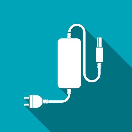 장 전기: 전화 충전기의 아이콘