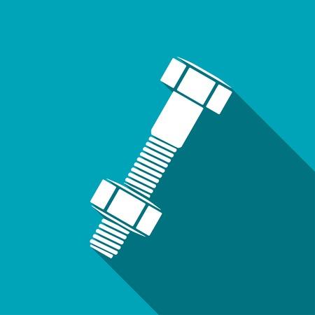 tuercas y tornillos: Perno y tuerca de icono, ilustraci�n vectorial