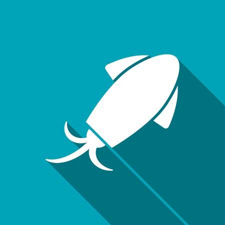 cuttlefish: Vector squid icon. Food icon Illustration
