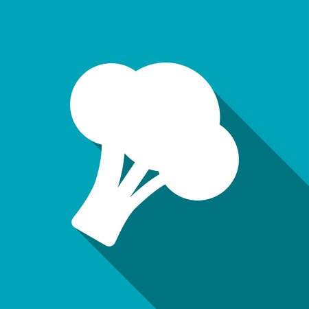 broccoli: Vector broccoli icon. Food icon