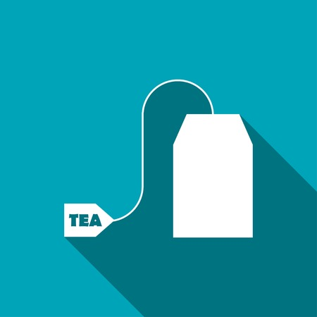 morning tea: Vector tea bag icon. Food icon. Eps10 Illustration