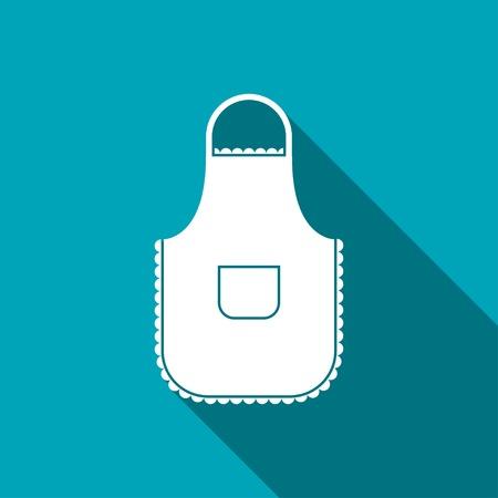 kitchener: kitchen icon of apron Illustration