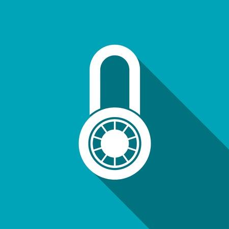 lockout: icon of code lock Illustration