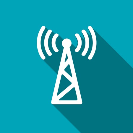 icon of antenna Иллюстрация