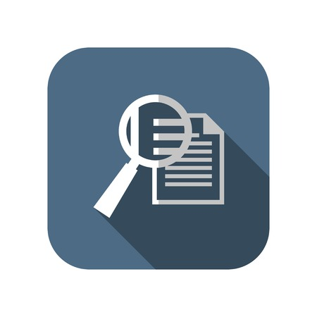 magnifying: icon of lupe document