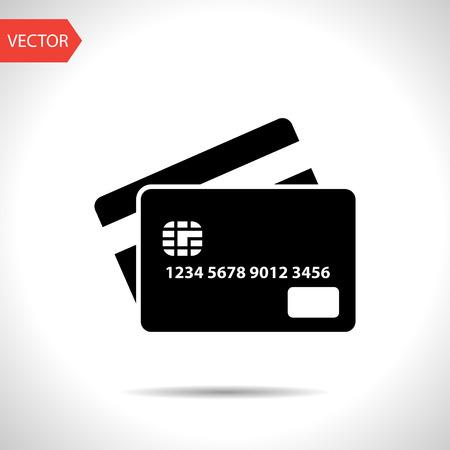 Credit card icon  イラスト・ベクター素材