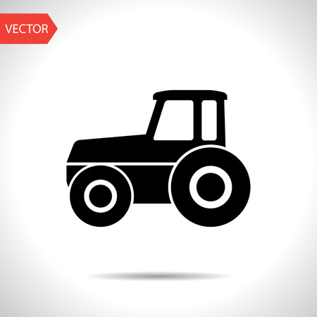 horticulturist: Tractor vector icon