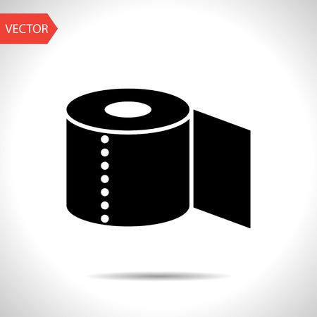 papel higienico: Icono de papel higiénico Vectores