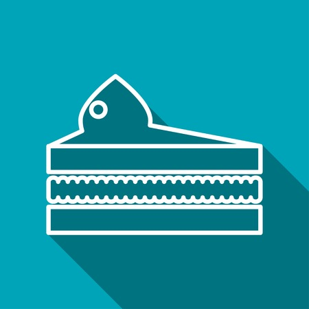 piece of cake: Vector piece of cake icon. Food icon.