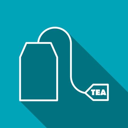 ceylon: Vector tea bag icon. Food icon.