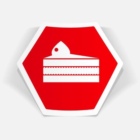 trozo de pastel: pedazo de pastel de icono