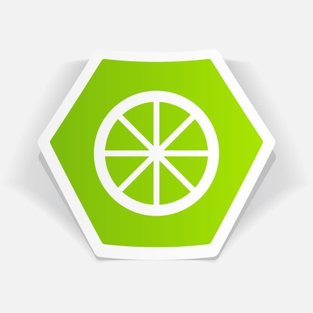 citrus: Vector citrus pictogram. Voedsel icoon. Stock Illustratie