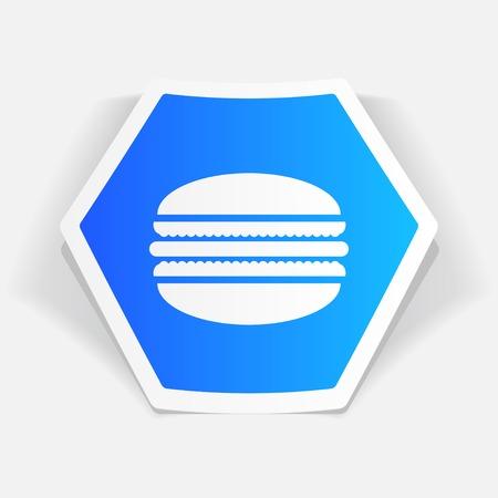 macaroon: Vector macaroon icon. Food icon.