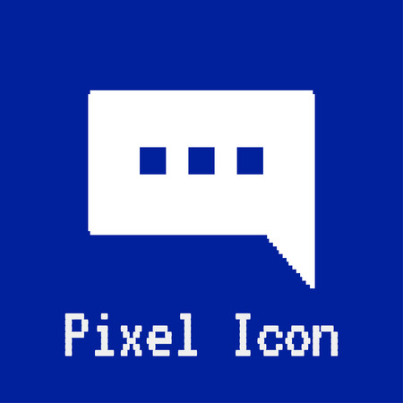 dos: pixel vector icon of text bubble Illustration