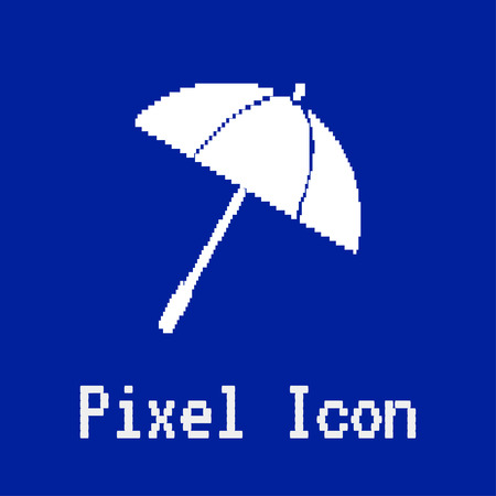 dos: pixel vector icon of umbrella Illustration
