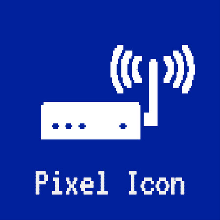 dos: pixel vector icon of router