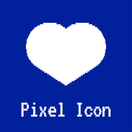 dos: pixel vector icon of love heart Illustration