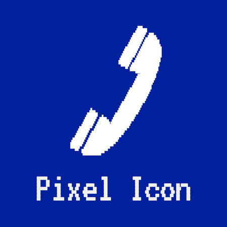 dos: pixel vector icon of phone Illustration