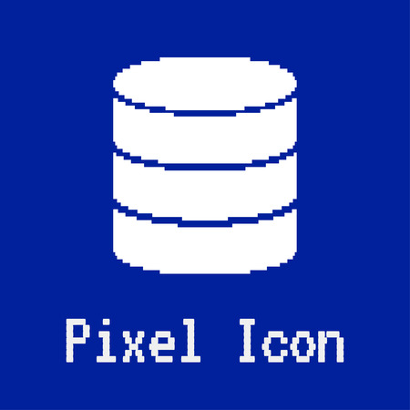 dos: pixel vector icon of database