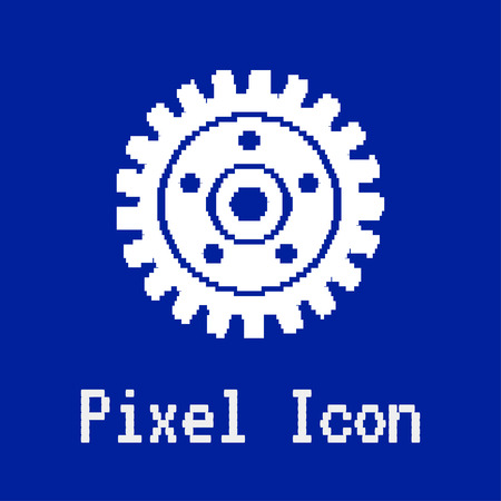 dos: pixel vector icon of gear