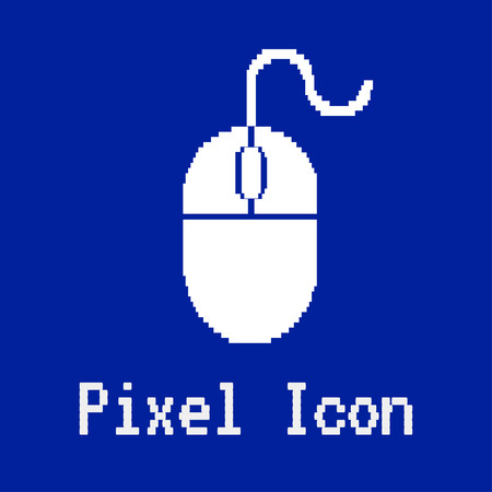 dos: pixel vector icon of computer mouse