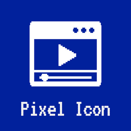 dos: pixel vector icon of player window