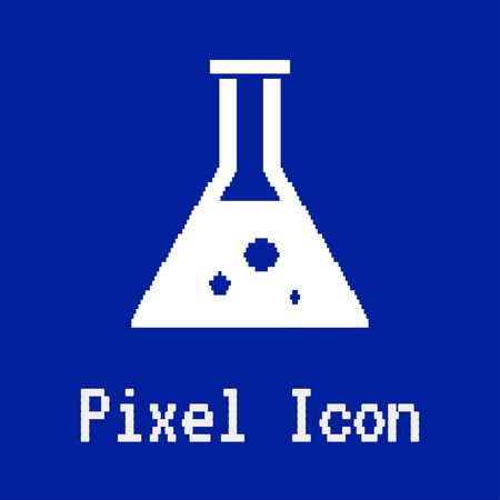dos: pixel vector icon of test tube