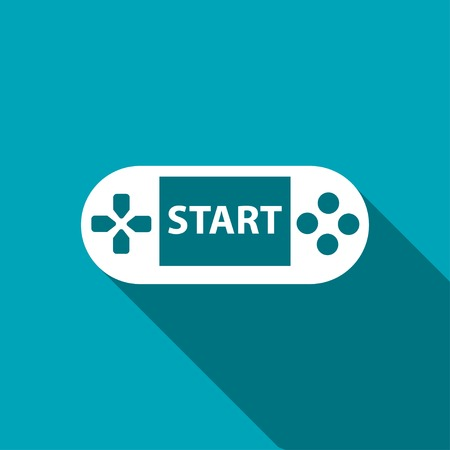portable console: Handheld game console icon Illustration