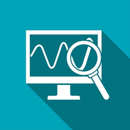 Monitoring icon Illustration
