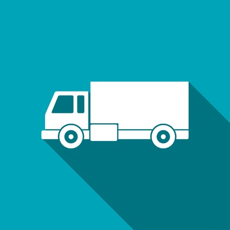 package delivery: delivery truck icon Illustration