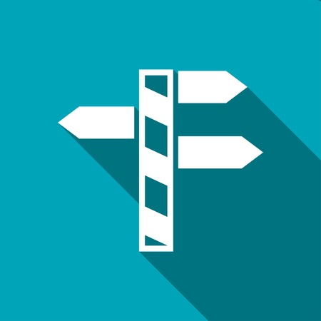 different directions: Road sign with different directions icon
