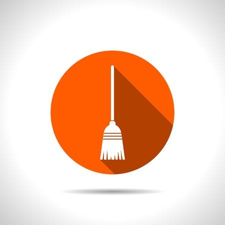 dustpan: Broom vector icon