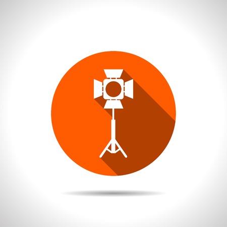floodlight: Spotlight vector icon Illustration