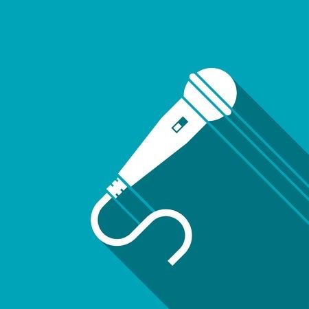amplification: Microphone icon Illustration