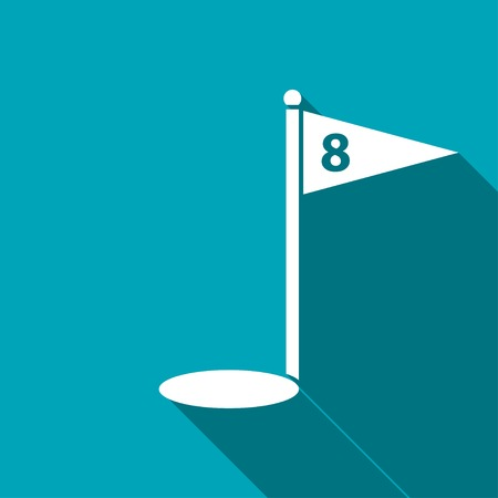concentrating: Hole Course Golf icon Illustration