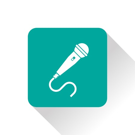 amplification: Microphone icon Illustration
