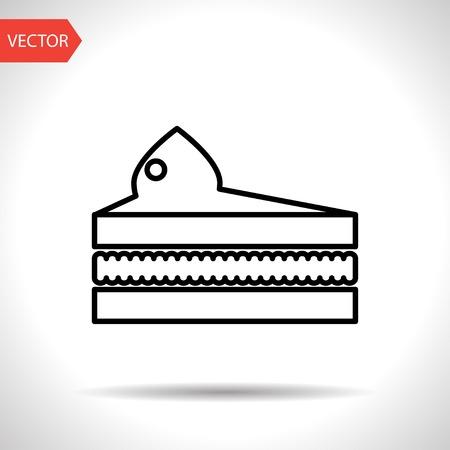 piece of cake: Vector piece of cake icon. Food icon. Eps10 Vectores
