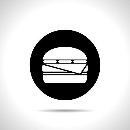 sesame seeds: Vector  burger icon. Food icon. Eps10 Illustration