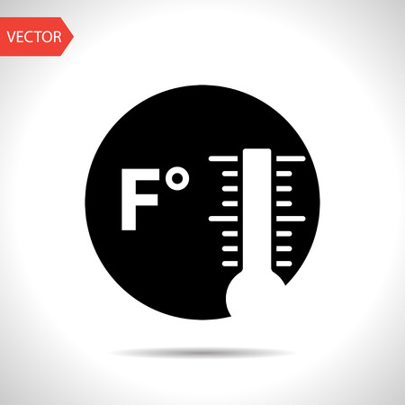fahrenheit: icon of fahrenheit thermometer Illustration