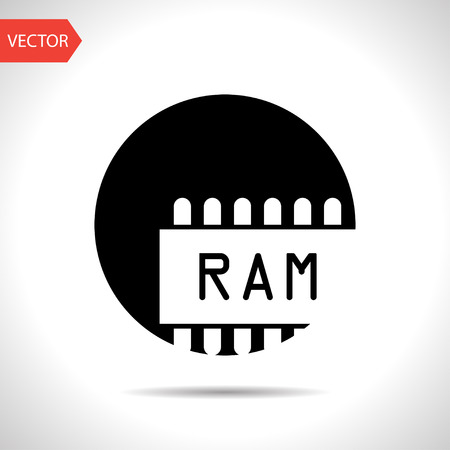 carnero: icono del chip de memoria RAM Vectores