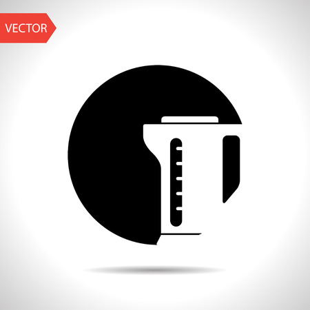 thermo: icon of thermo pot Illustration