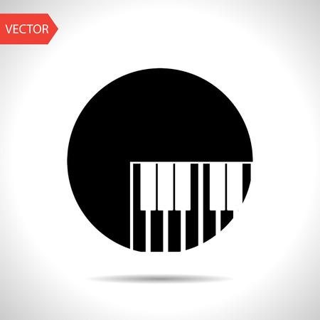 piano: icono de teclas de piano Vectores